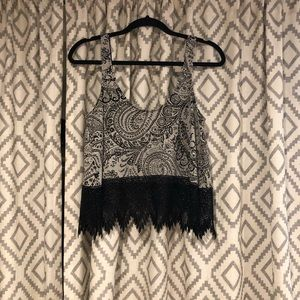 Free people cropped tank top